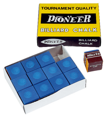 A selection of billiard chalks in different...