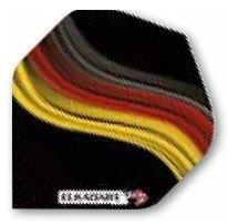 """Dart Flight """"Deutschland schwarz"""" 100 Micron"""