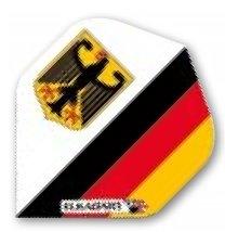 """Dart Flight """"Deutschland Wappen"""" 100 Micron"""