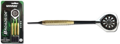 Dart Pfeil Satz Winmau Broadside Brass Softdart 2225-18 g