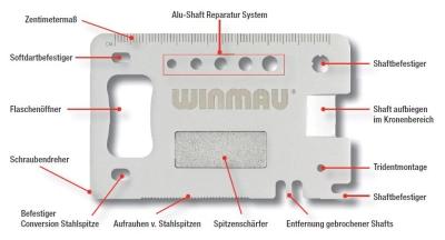 "Winmau Dart Präzisionswerkzeug ""Multi-Tool"" Profi 8393"