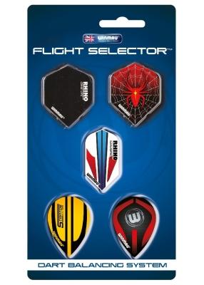 Darts Fly Display 5 Sets Winmau Flight selector mixed