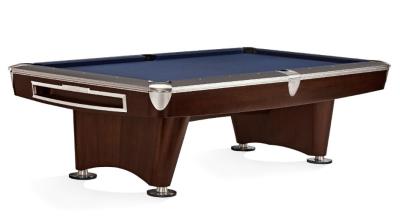 Pool Billiard Table Brunswick Gold Crown VI, 8 Feet (8 ft.), Skyline Walnut Nickel