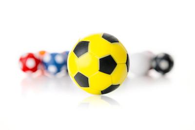Kickerball Winspeed by Robertson 35 mm, gelb / schwarz