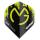 Dart-Fly Winmau MvG MEGA, Standard Form, 6900-234 green - black