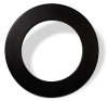 Karella Dartboard Surround / Catchring, PU schwarz