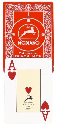 """Original Modiano """"Plastico"""" für Poker und Black-Jack rot"""