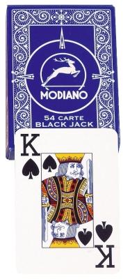 """Original Modiano """"Plastico"""" for Poker and Black-Jack, blue"""