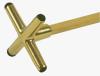 Cue Bridge cross brass