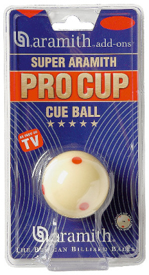 Game Ball Pool white 57,2 mm Aramith Pro Cup TV Sup