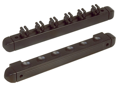 Wall mount Antique 6 Cues black