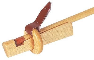 Queueleder-Klemme Holz