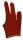 Billardhandschuh Felice dunkelrot