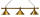 Billardlampe London 3-fach Messing / Messing
