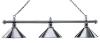 Billiard Lamp London 3 x Chrome / Chrome