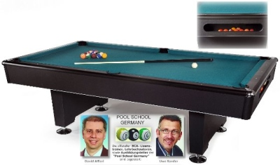 Pool Billardtisch Black Pool 6-9 ft.