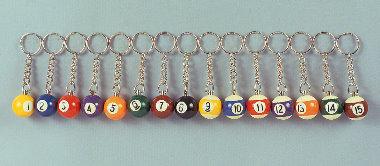 Billard Schlüsselanhänger 25 mm Durchmesser