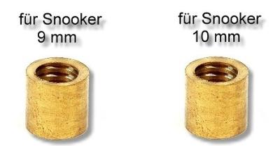 Ferrule 9 and 10 mm brass snooker
