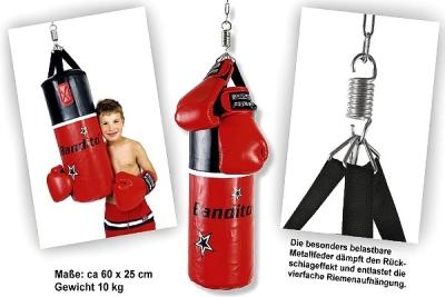 """Punching bag Bandito """"Junior"""" set including Bandito boxing gloves"""