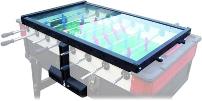 Glass cover for OUTDOOR KICKER with coinage with ball Theft Protection
