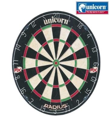 Dart Board Unicorn Bristle Board Radius-5 board per master carton