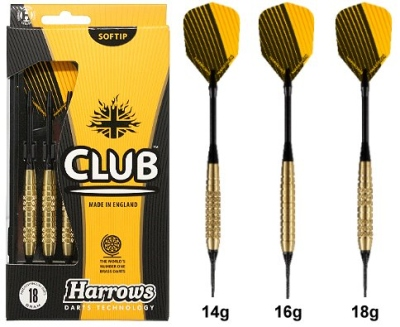 "Darts arrow set Harrows ""Club Brass A"" Softdart"
