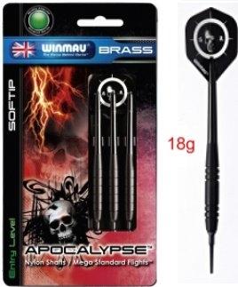 Dart Arrow Set Winmau Apocalypse Brass 2215 - 18 g Softdarts