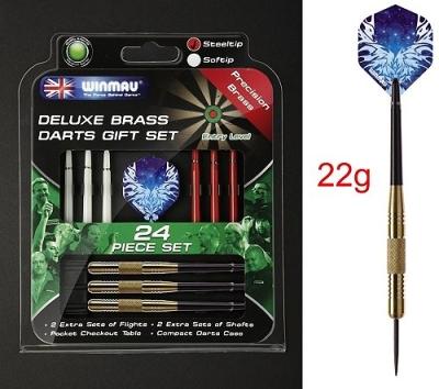 Dart arrow Set Deluxe Set 22 g, 24 pcs Steeldarts