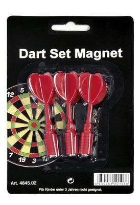 Spare Arrows for Dartsboard magnetic 3 pcs./set red