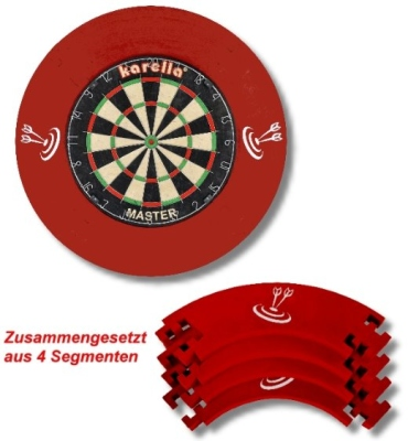 Catchring-Auffangring Stoff 4 tlg. rot