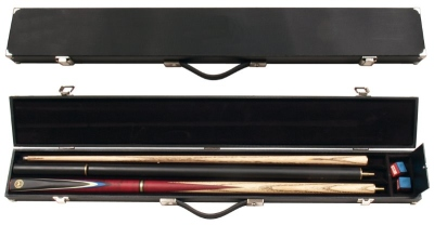 Snooker case for standard cues and long extension