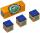 Kreide Longoni Professional blau 3 Stück