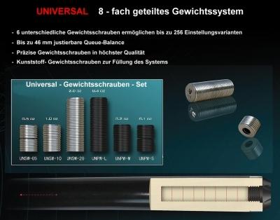 Universal Cue weight screw set