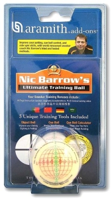 Training ball 52 mm with textbook Snooker Ultimato Nic Barrow