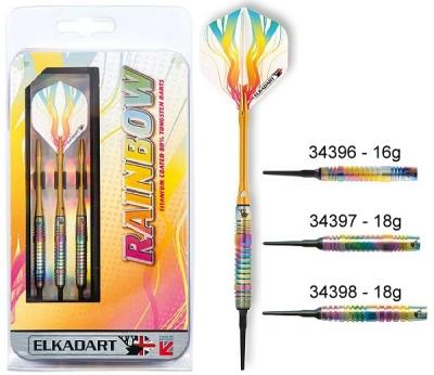 Dart arrow Set Elkadart Rainbow Softdart 16 18g