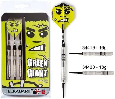 Dart arrow Set Elkadart Green Giant Softdart 16 18g