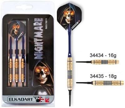 Dart arrow Set Elkadart Nightmare Softdart 16 18g