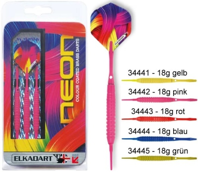 Dart arrow Set Elkadart Neon Softdart 18g